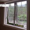 Mẫu cửa sổ làm từ nhôm Xingfa thiết kế mở hất 2 cánh nhôm Xingfa màu trắng sứ + kính hộp cách âm