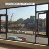Mẫu cửa sổ nhôm Xingfa mở quay 1 cánh + Vách cố định